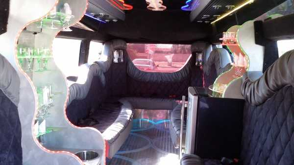 Party bus Fort Worth limo inside back